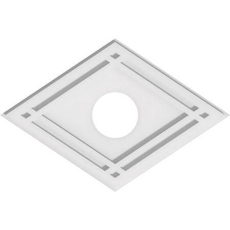 Ekena Millwork CMP20X13DD-04000 4 in. ID x 7 in. Rectangle Diamond Architectural Grade PVC Contemporary Ceiling Medallion - image 1 de 1