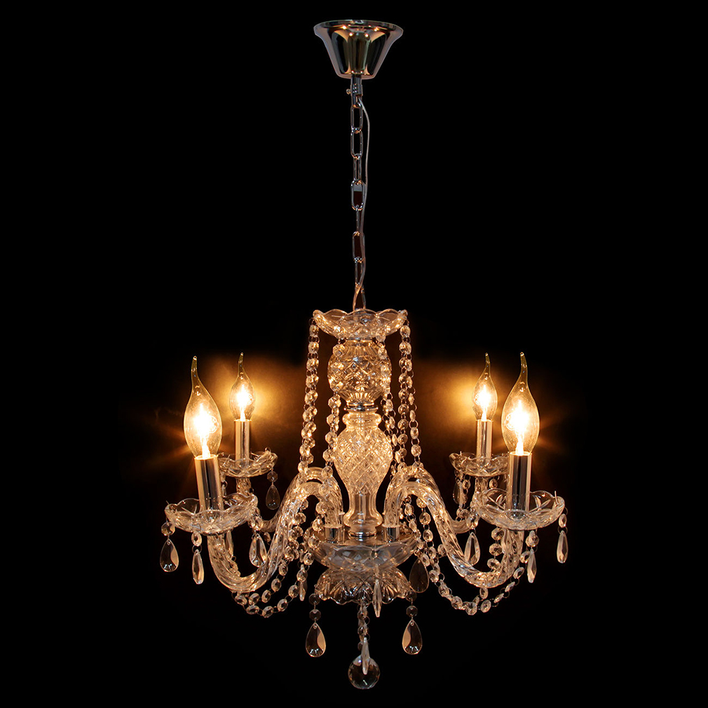 Crystal Ceiling 4 Arms Pendant Lights Lamp Home Lighting European Chandelier
