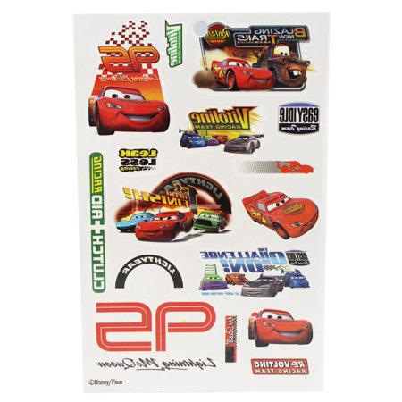 Disney Pixar's Cars Lightning McQueen and Friends Temporary