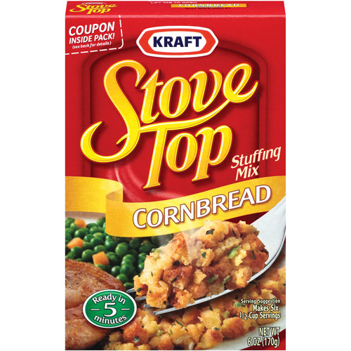 Kraft Cornbread Stove Top Stuffing Mix, 6 oz (3 Packs)
