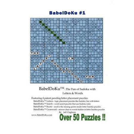 babeldoku 1 the fun of sudoku with letters words paperback