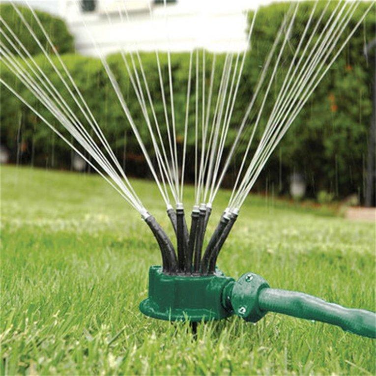 Rotating Sprinkler Noodle Head Water Sprinkler Garden Watering Sprinkler by