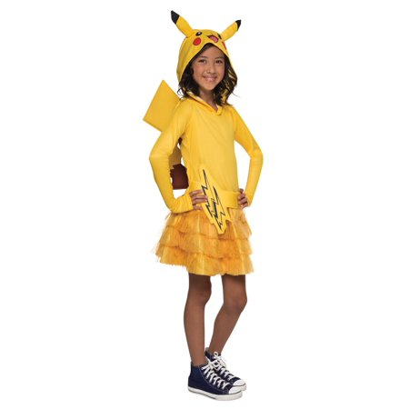 Pokemon: Girls Pikachu Hoodie Dress - Small