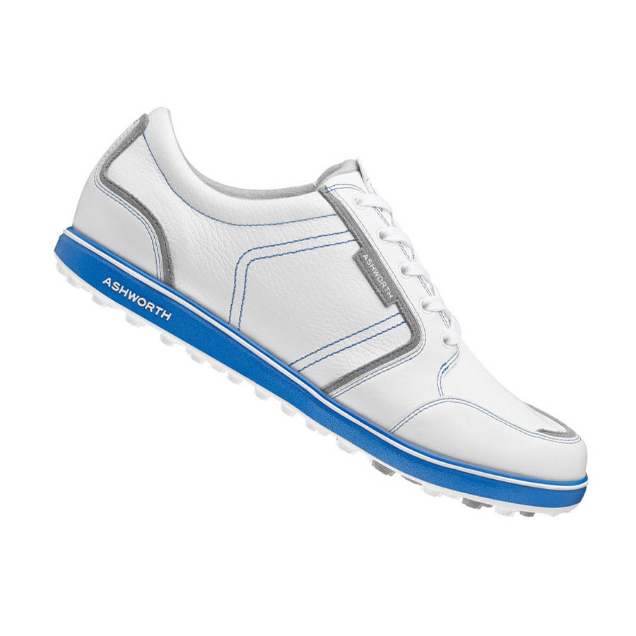 New Ashworth Cardiff ADC Leather Spikeless Golf Shoes - 1...