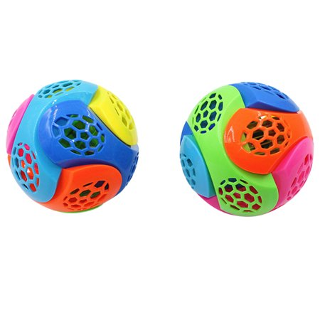 Flash Bounce Ball (Fashion Music New Light-Up Ball Flash Kid Creative Puzzle Electric Bouncing)