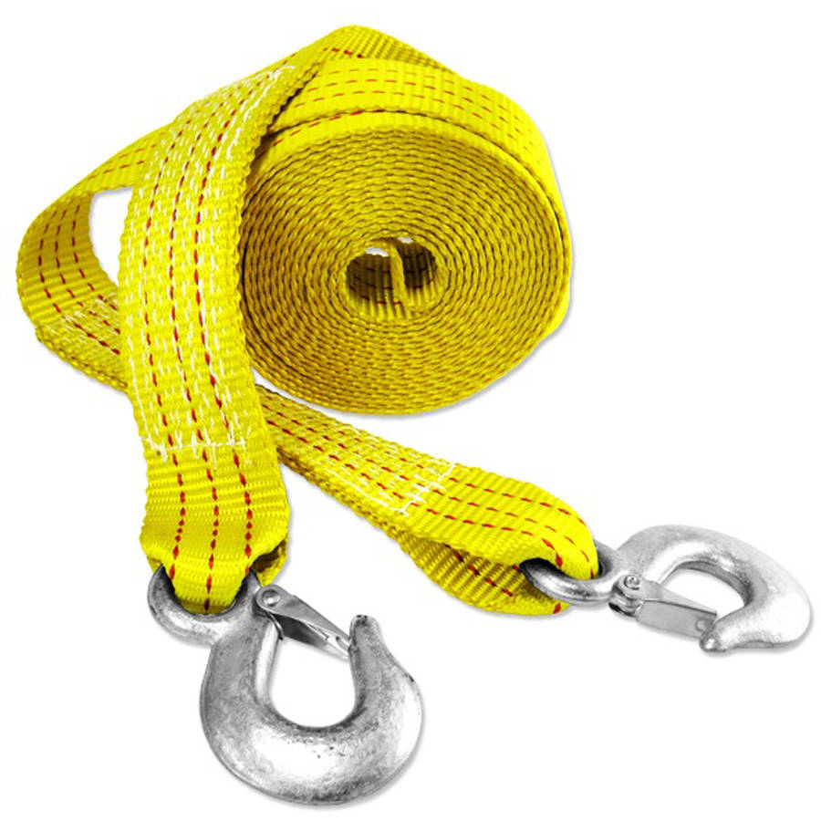 "Capri Tools 2"" x 20' Heavy Duty 10,000 lb Tow Strap with Hooks"