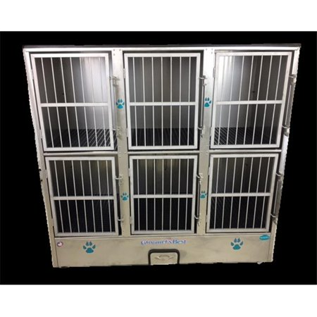 Groomers Best GB6UNIT 6 Unit Cage Bank- Fully