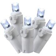 Holiday Time LED Random Twinkle Icicle Light Set White Wire Cool White Bulbs, 70 Count