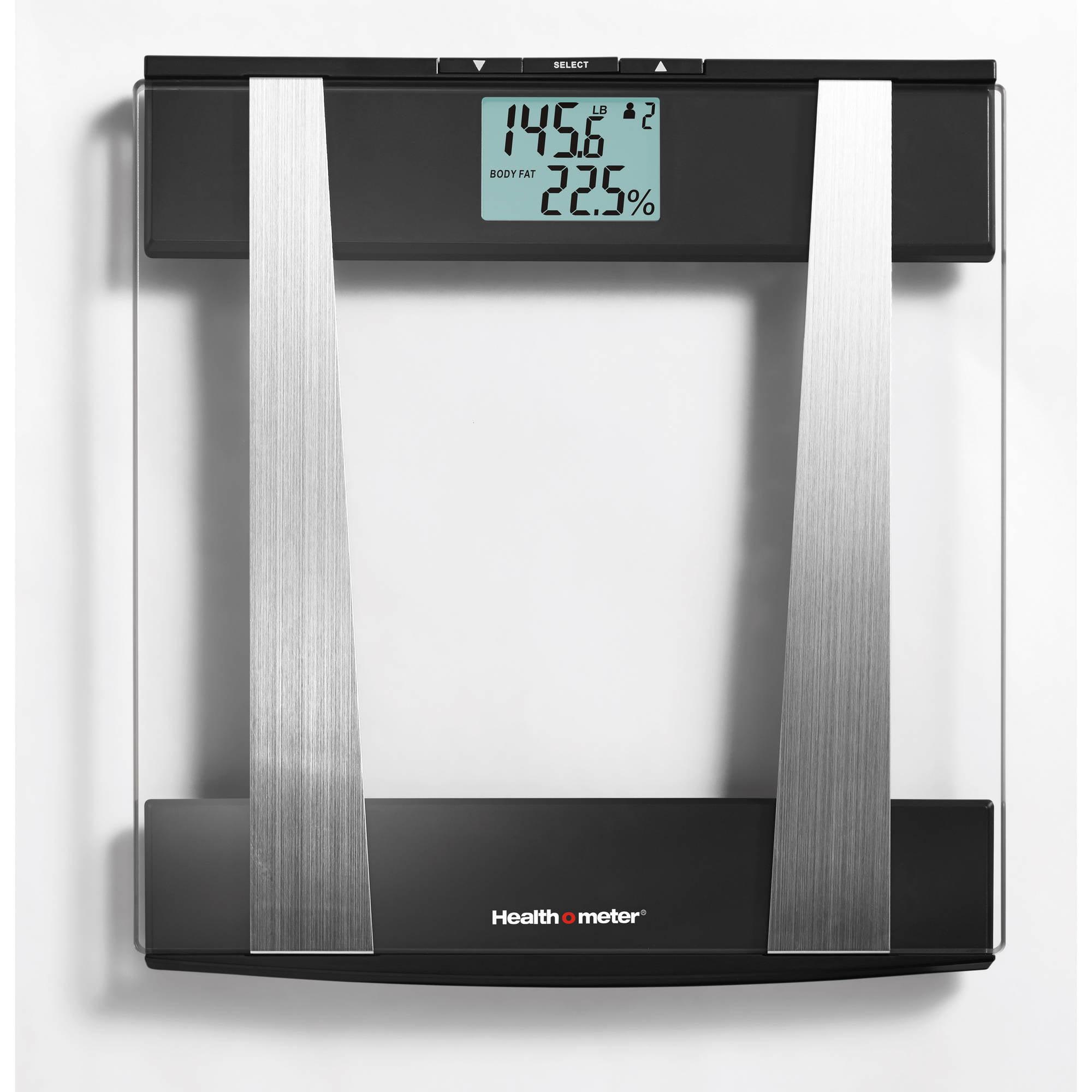 Health o meter Glass Body Fat Bath Scale w Hydration, BFM145