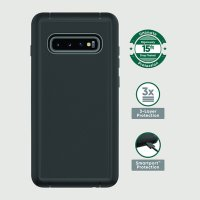 onn. Rugged Case with Built-In Antimicrobial for Samsung Galaxy 20+, S10+, S10, Black, Navy Blue