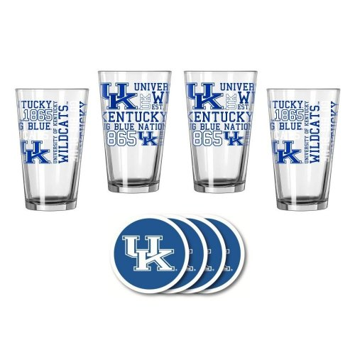 UK Wildcats Spirit Glassware Gift Set