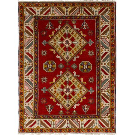 Isabelline One Of A Kind Doering Handmade Wool Dark Red Area Rug