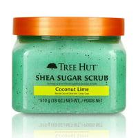 Tree Hut Shea Sugar Scrub Coconut Lime, 18oz, Ultra Hydrating and Exfoliating Scrub for Nourishing Essential Body Care