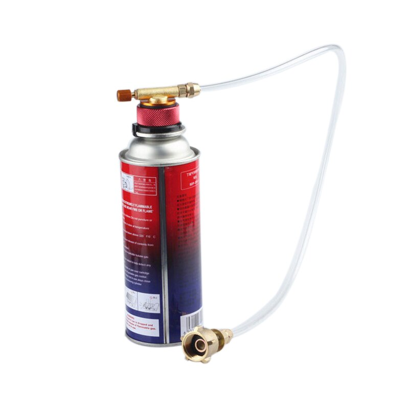 Camping Propane Refill Adapter Lp Gas Flat Cylinder Tank Coupler AdapterFEH