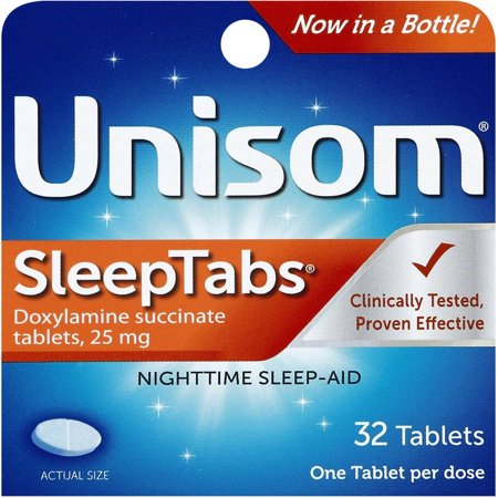 Unisom SleepTabs Doxylamine succinate Tablets, 32ct.