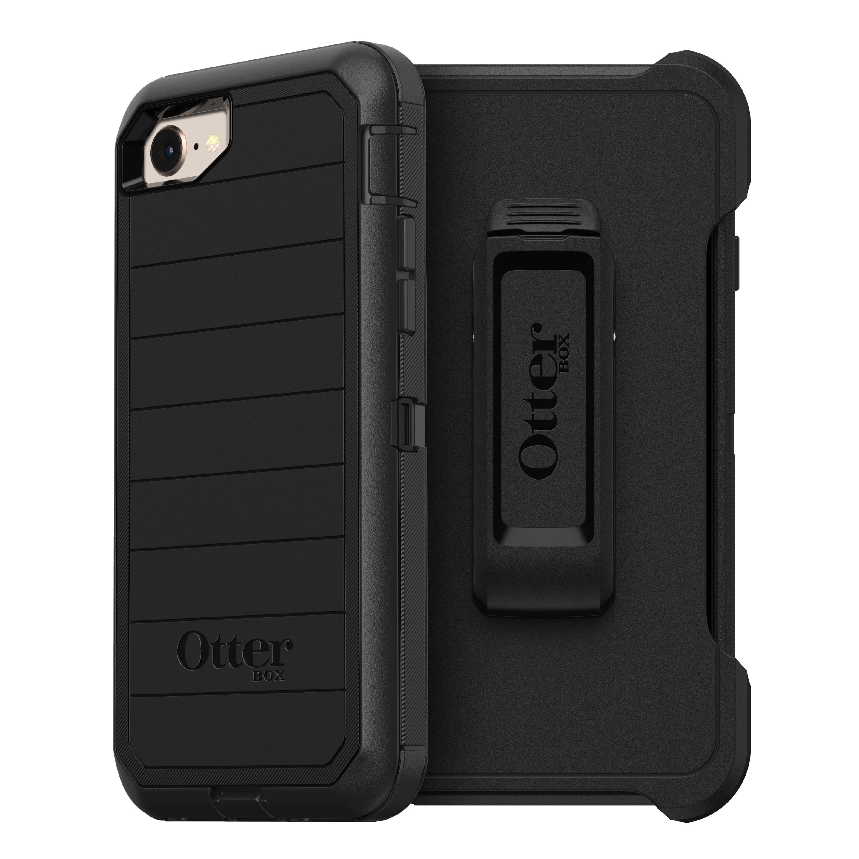 OtterBox Defender Series Pro Phone Case for Apple iPhone SE (2nd Gen), iPhone 8, iPhone 7 - Black