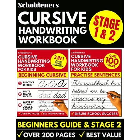 Cursive Handwriting Workbook: Cursive Writing Practice Book For Kids (Cursive For Beginners & Cursive Sentence Handwriting Workbook) (Paperback) Italic Cursive Handwriting