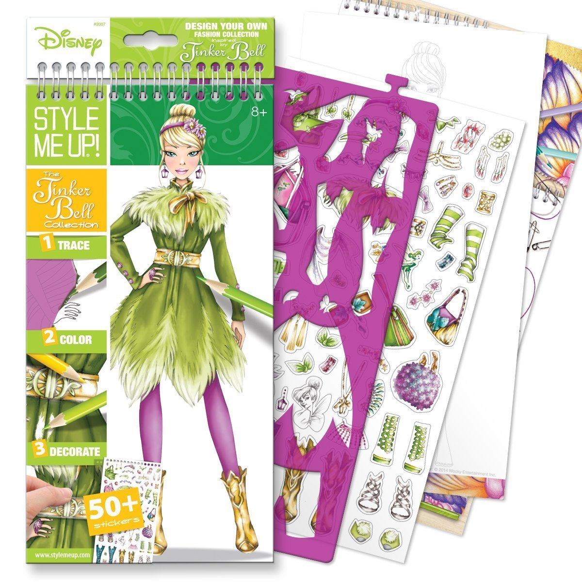 The Tinker Bell Collection Small Sketchbook English Design Your Own Fashion Collection Inspired By Disney Characters The Tinker Bell Collection Includes By Style Me Up Ship From Us Walmart Com