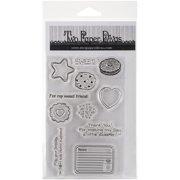 "Two Paper Divas Clear Stamps 8.5""X4.5""-Mason Jar Accessory Set #4"
