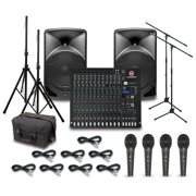 Alto TX15USB with Harbinger L2404FX-USB Mixer PA System
