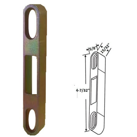 Sliding Glass Patio Door Keeper, 4-7/32