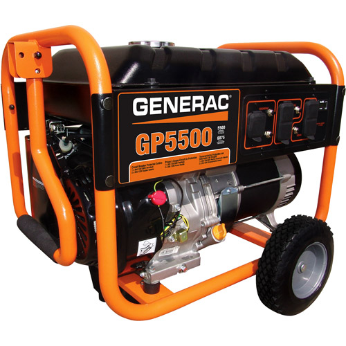 Generac 5939 GP5500, 5,500 Watt Portable Gas Powered Generator (Non-CARB Compliant)