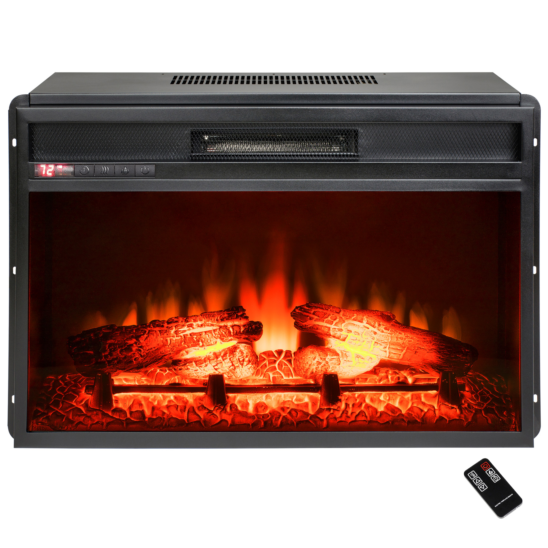 "AKDY FP0054 23"" Black Freestanding Insert Electric Fireplace Firebox Heater w/ Remote"
