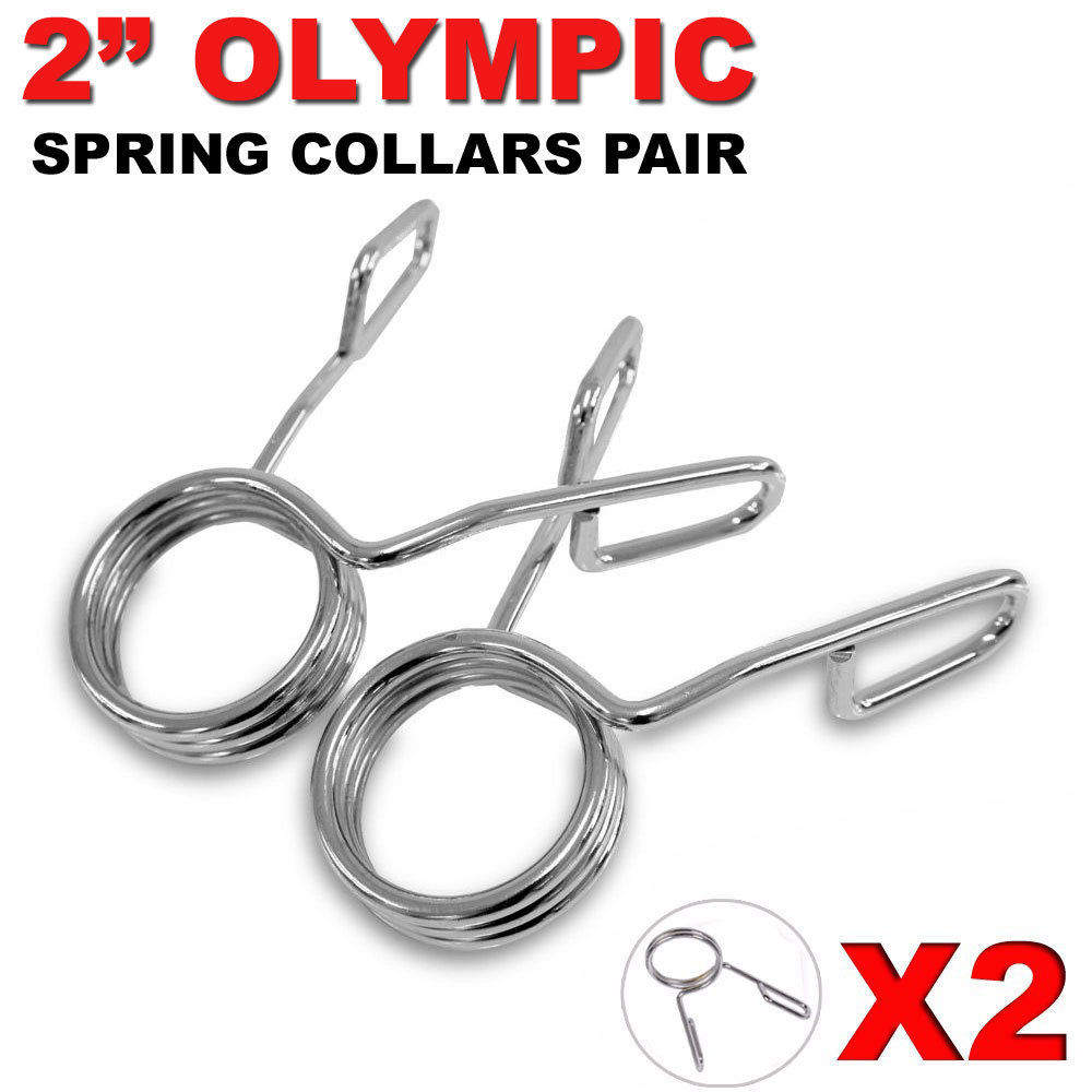 2 inch Olympic Spring Collars Weight Barbell Bar Hole Dumbbell Clips Steel M5M7