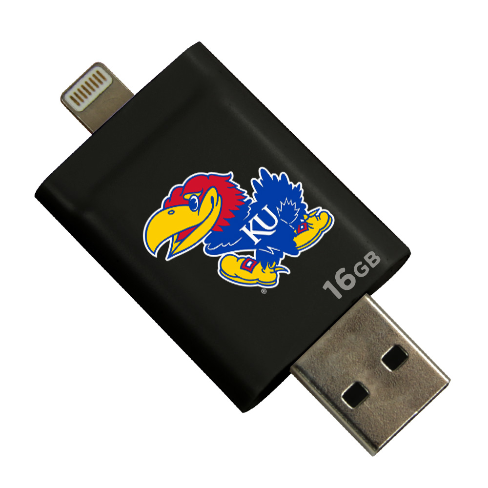 Kansas Jayhawks i-FlashDrive HD USB Drive 16GB - Black