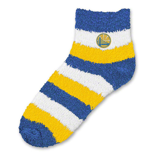 NBA - Golden State Warriors Women's Pro Stripe Sleep Soft Socks