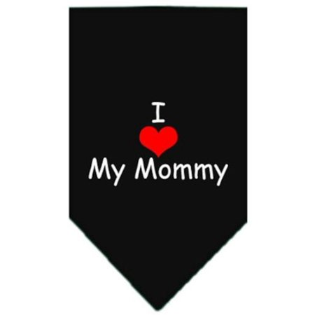 I Heart My Mommy Screen Print Bandana for Pets, Large, Black Ship from US..., By Mirage Pet Products - Mommy Patch Products