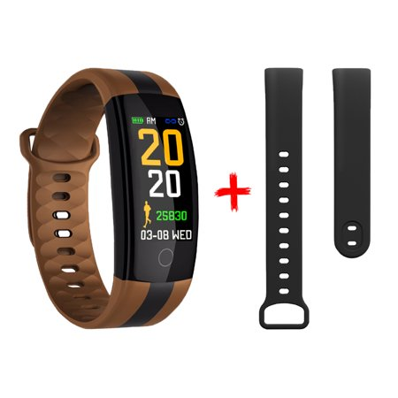 Sports Smart Watch Fitness Smart Bracelet Step Calories Distance Heart Rate Blood Pressure Test Sleep Monitor Message Call Reminder Colored Sports Smart Wristwatch Extra Watchband