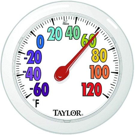 Taylor Precision 5631 ColorTrack Dial Outdoor Wall Thermometer Large Outdoor Patio Thermometer