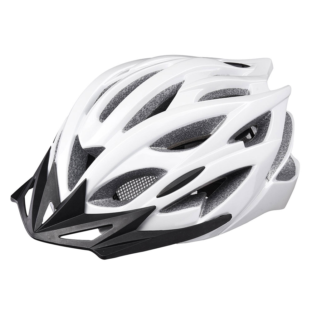 Yescom In-mold Bike Helmet CPSC with LED Light Detachable Visor 25 Vents Insect Mesh Adult MTB Road Cycling Color Opt