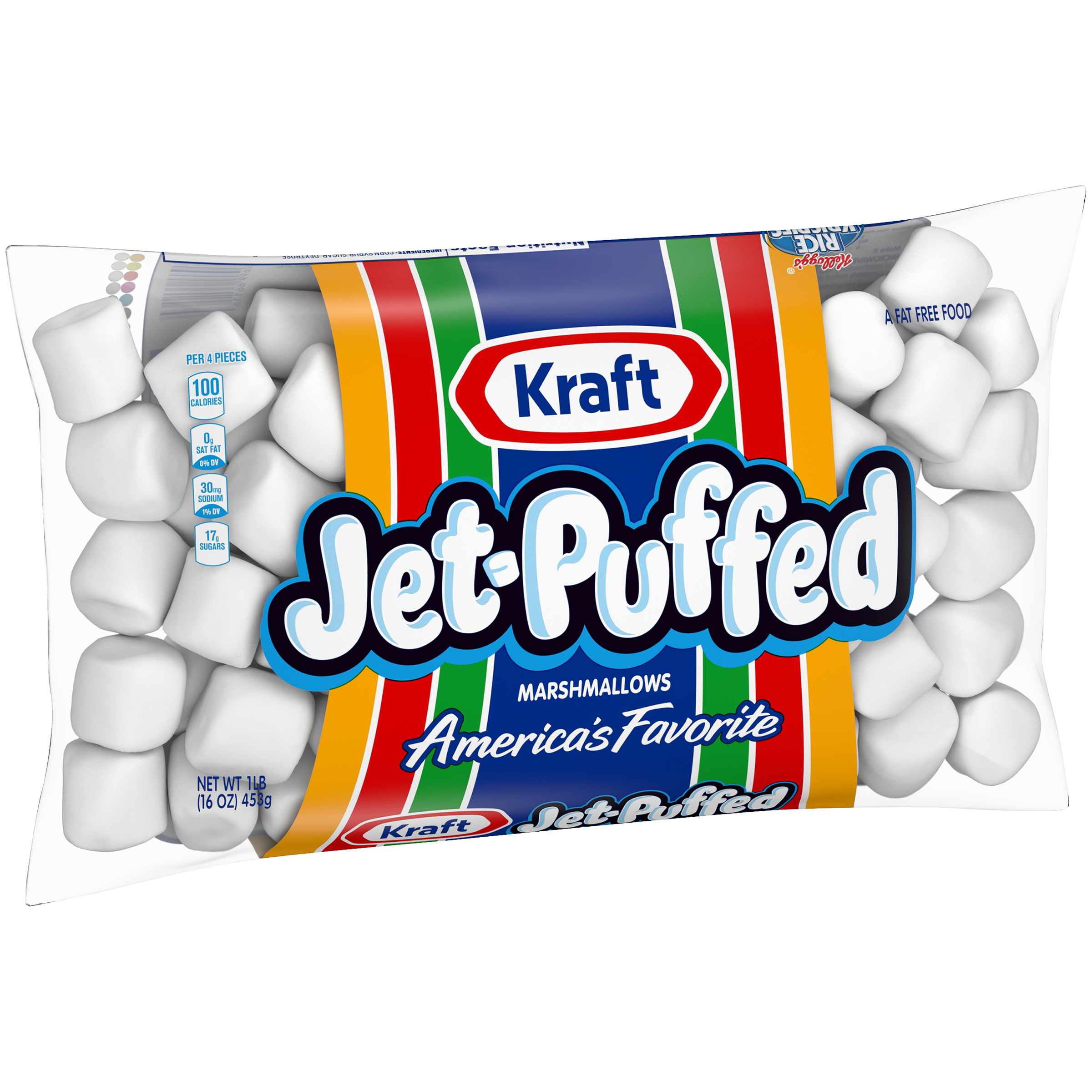 (4 Pack) Jet-Puffed Marshmallows, 16 oz Bag