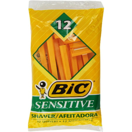 Bic Single Blade Shavers, Sensitive 12 ea (Pack of