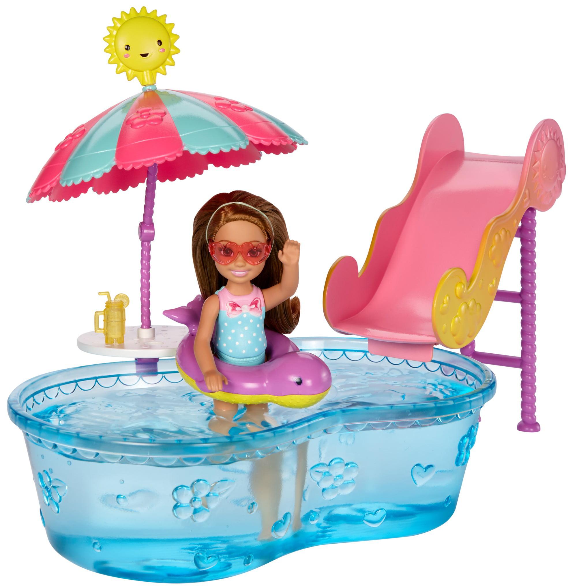 Barbie Club Chelsea Pool & Waterslide by Mattel