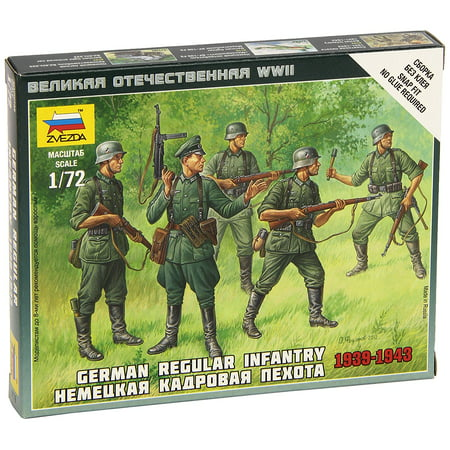 German Regular Infantry 1939-43 Model Building Kit, Scale 1/72, Snap Kit, easy to assemble By Zvezda Models Ship from US 1 700 Scale Model Ships