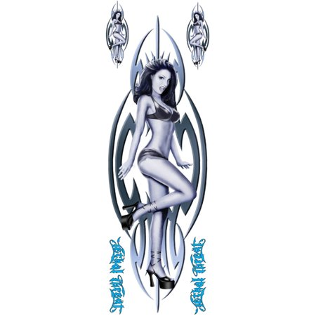 6  X 18  Decal  Tribal Girl  Blue