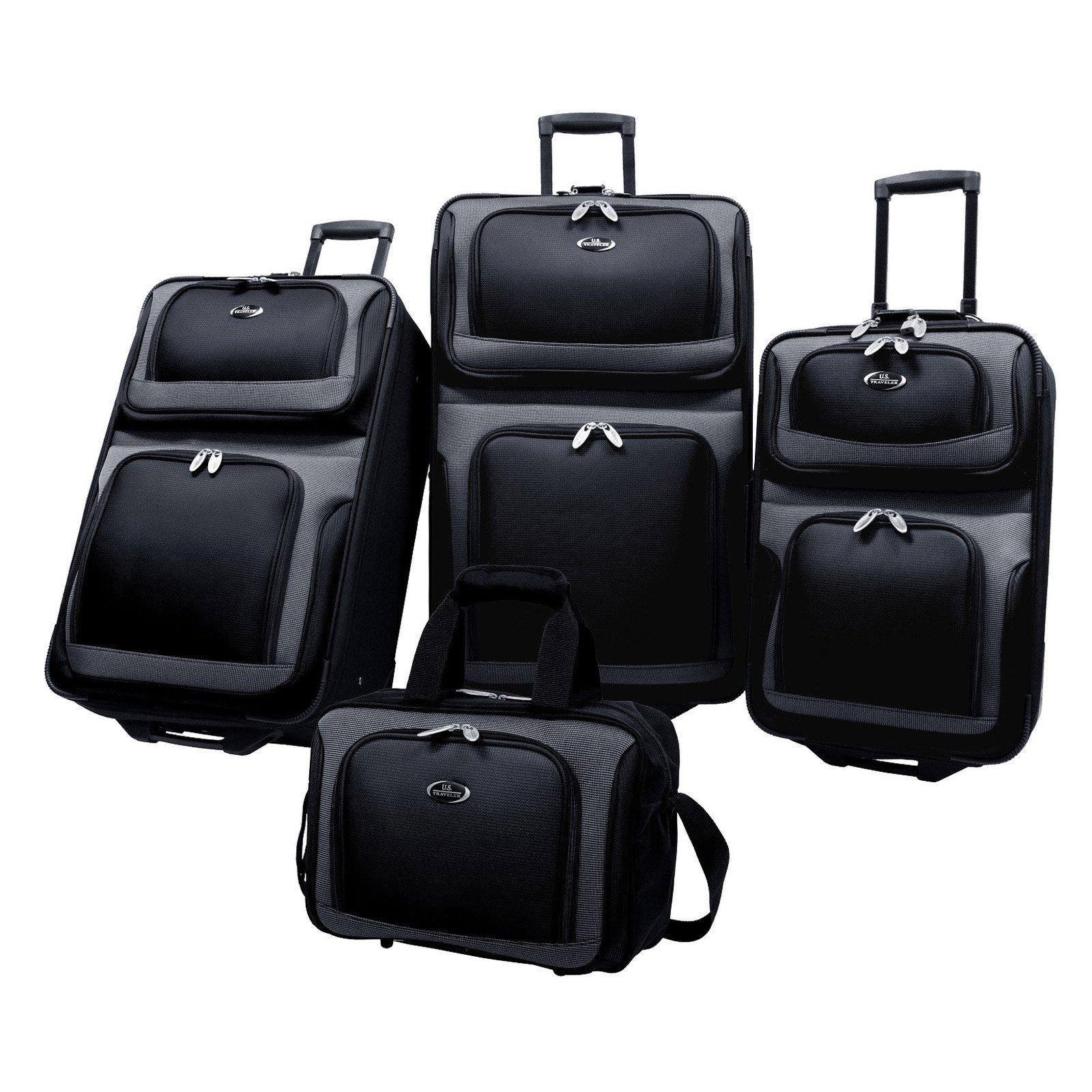 U.S. Traveler New Yorker 4-Piece Luggage Set - Walmart.com