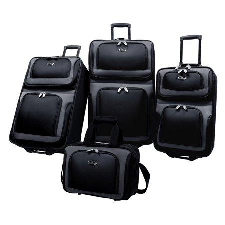 US Traveler New Yorker 4 Piece Expandable Luggage Set