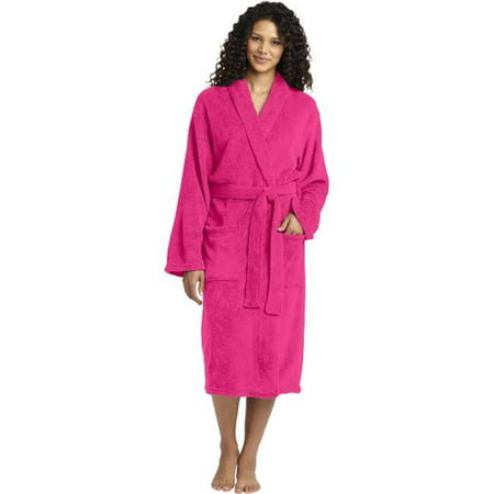 Port Authority® Plush Microfleece Shawl Collar Robe. R102 Pink Raspberry S/M - image 1 of 1