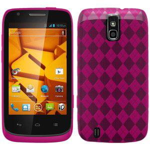 Premium Designer High Gloss TPU Soft Gel Skin Case for Sprint ZTE Force N9100, ZTE Force N9100 - Hot Pink