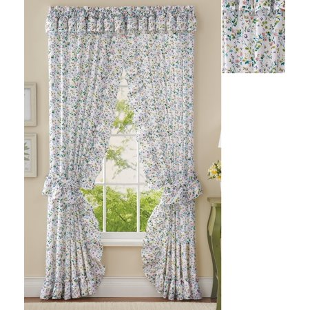 Floral Plisse Ruffle Valance & Curtain Set, Multicolor ()