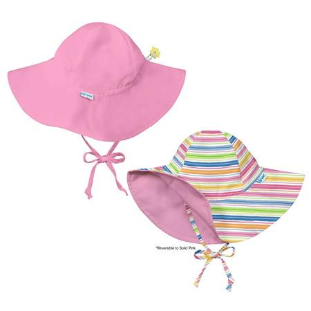 7ee3bf5abf3c i play Baby and Toddler Brim Sun Protection Hat-Stripes and Pink - 2 Pack -  Walmart.com