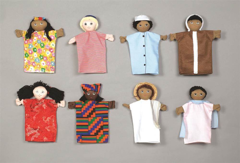 Multi-cultural Puppets by Children's Factory