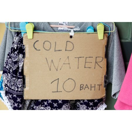 Peel-n-Stick Poster of Baht Offer 10 Shield Note Drink Water Cold Sell Poster 24x16 Adhesive Sticker Poster Print
