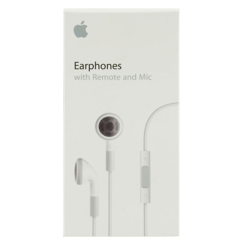 Apple Earphones with Remote and Mic - Earphones with mic - ear-bud - 3.5 mm jack - for iPad 1; 2; iPhone 3GS, 4, 4S; iPod classic; iPod nano; iPod shuffle (3G, 4G); iPod touch