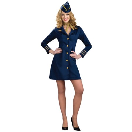 Air Hostess Stewardess Adult Costume](Retro Air Hostess Costume)
