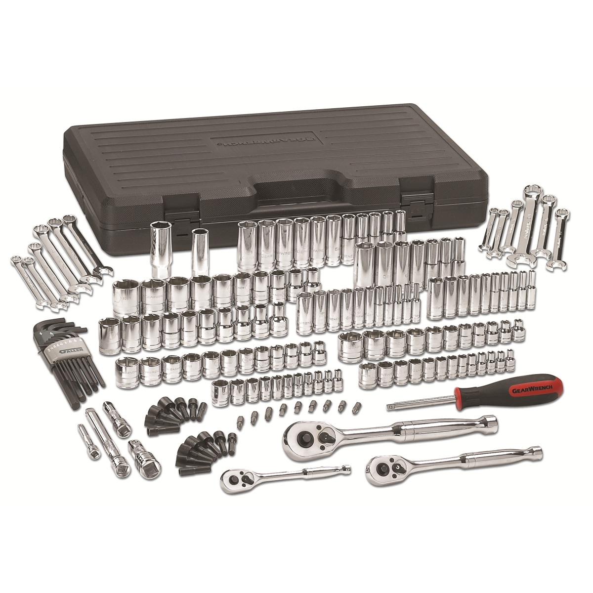 165Pc. 1/4in., 3/8in. and 1/2in. Dr Mechanic's Tool Set